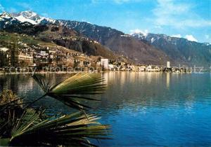 AK / Ansichtskarte Montreux_VD Partie am Genfersee Alpen Montreux VD