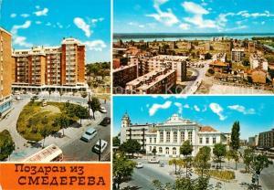 AK / Ansichtskarte Smederevo_Jezava_Podunavlje Stadtpanorama Wohnsiedlung Stadtzentrum Smederevo_Jezava