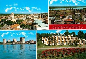 AK / Ansichtskarte Smederevo_Jezava_Podunavlje Stadtpanorama Alte Festung Hotel Smederevo_Jezava