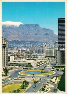 AK / Ansichtskarte Cape_Town_Kaapstad_Kapstadt Railwa Station amidst the towering city skyscrappers Cape_Town