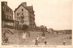 AK / Ansichtskarte Binic_Cotes_d_Armor Plage de la Banche Hotel de la Plage Binic_Cotes_d_Armor