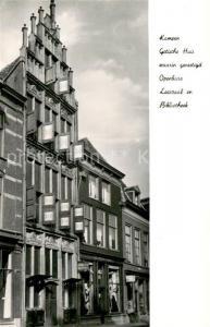 AK / Ansichtskarte Kampen_Niederlande Gotische Huis waarin gevestigd Openbare Leeszaal en Bibliotheek Kampen_Niederlande