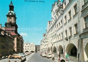 AK / Ansichtskarte Jelenia_Gora_Hirschberg_Schlesien Plac Ratuszowy Rathausplatz Jelenia_Gora