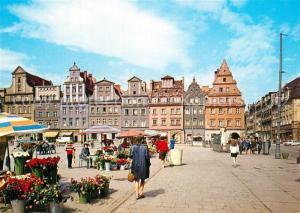 AK / Ansichtskarte Wroclaw Plac Solny Marktplatz Giebelhaeuser Wroclaw