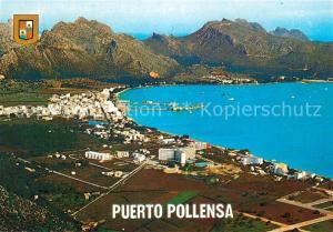 AK / Ansichtskarte Puerto_Pollensa Vista panoramica de la Bahia vista aerea Puerto_Pollensa