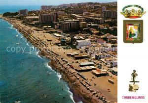 AK / Ansichtskarte Torremolinos Vista aerea Grand Playa de Montemar 1a Coleccion de 25 modelos Torremolinos