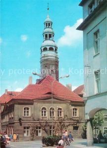 AK / Ansichtskarte Zielona_Gora Ratusz z barokowa wieza Siedziba Urzedu Miejskiego Rathaus Barockturm Amtshaus Zielona Gora
