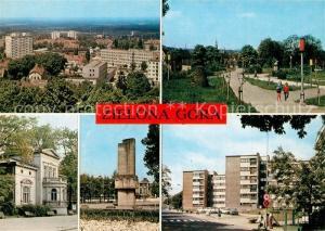 AK / Ansichtskarte Zielona_Gora Stadtpanorama Park Musikschule Denkmal Wohnsiedlung Zielona Gora