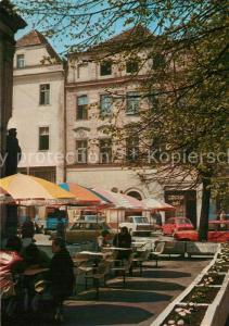 AK / Ansichtskarte Swidnica Fragment Rynku Marktplatz Strassencafe Swidnica