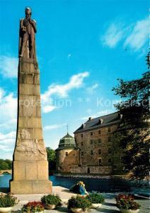 AK / Ansichtskarte oerebro Slottet med Karl XIV Johan Schloss Denkmal oerebro