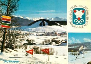 AK / Ansichtskarte Autrans Jeux Olympiques d Hiver Grenoble Disciplines Nordiques Tremplin Olympische Winterspiele Autrans