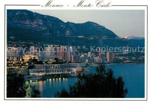 AK / Ansichtskarte Monaco Crepuscule sur Monte Carlo Monaco