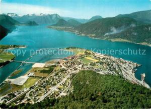 AK / Ansichtskarte Andalsnes Romsdal Fjord Fliegeraufnahme Andalsnes