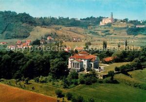 AK / Ansichtskarte Vicenza Villa La Rotonda e Monte Berico veduta aerea Vicenza