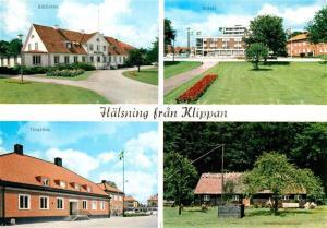 AK / Ansichtskarte Klippan Bibliotek Hotell Tingshus Hembygdsgarden Klippan