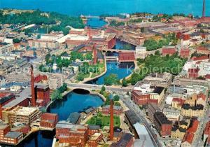 AK / Ansichtskarte Tampere Stadtzentrum Fliegeraufnahme Tampere