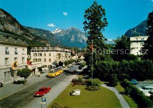 AK / Ansichtskarte Meiringen_BE Strassenpartie mit Blick zu Maehrenhorn und Benzlauistock Berner Alpen Meiringen BE