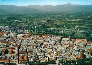 AK / Ansichtskarte Cuneo Panorama con Viadotto sulla Stura nello sfondo Manviso veduta aerea Cuneo