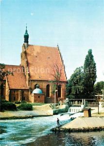 AK / Ansichtskarte Bydgoszcz_Pommern Gorycki kosciol Gotische Kirche 16. Jhdt. Wasserfall Bydgoszcz Pommern