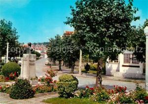 AK / Ansichtskarte Gouveia Strassenpartie Denkmal