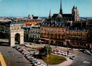 AK / Ansichtskarte Dijon_Cote_d_Or Place Darcy ves la Cathedrale Saint Benigne Dijon_Cote_d_Or
