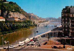 AK / Ansichtskarte Grenoble Les quais de l'Isere le Pont Marius Gontard le quai Perriere et le Couvent Sainte Marie Grenoble