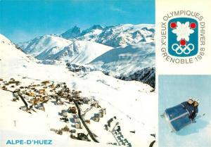 AK / Ansichtskarte Alpe_d_Huez_Isere Xes Jeux Olympiques d Hiver Olympische Winterspiele Franzoesische Alpen Alpe_d_Huez_Isere
