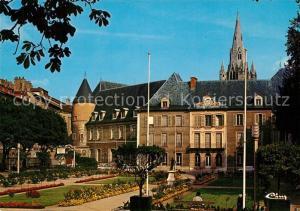 AK / Ansichtskarte Grenoble Jardin de l ancien Hotel de Ville au fond Clocher de la Collegiale Saint Andre Grenoble