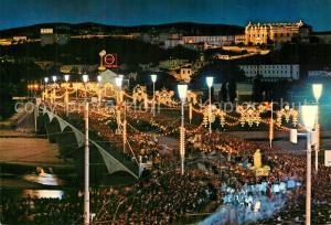 AK / Ansichtskarte Coimbra Convento e procissao nocturna das Festas da Rainha Santa Isabel Coimbra