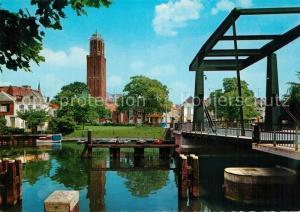 AK / Ansichtskarte Zwolle_Overijssel Kamperpoortenbrug met Peperbus Zwolle_Overijssel