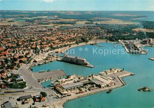 AK / Ansichtskarte Ronne Fliegeraufnahme Hafenpartie Ronne