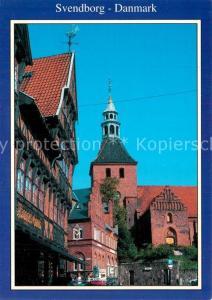 AK / Ansichtskarte Svendborg Altstadt Motiv mit Kirche Svendborg