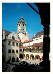 AK / Ansichtskarte Bratislava Nadvorie Starej radnice Innenhof im alten Rathaus Bratislava