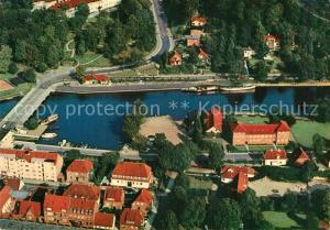 AK / Ansichtskarte Silkeborg_Midtjylland Luftfoto udsigt over Byen Silkeborg_Midtjylland