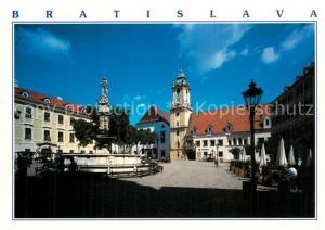 AK / Ansichtskarte Bratislava Hlavne namesti Hauptplatz Brunnen Bratislava