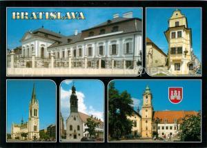 AK / Ansichtskarte Bratislava Palast Rokokohaus Kirche Altes Rathaus Bratislava