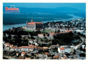 AK / Ansichtskarte Bratislava Stadtbild mit Burg Fliegeraufnahme Bratislava