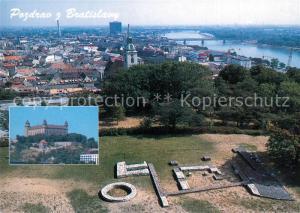 AK / Ansichtskarte Bratislava Burg Stadtpanorama Bratislava