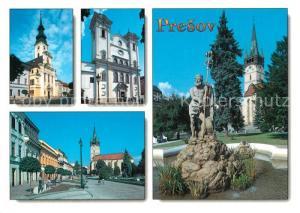 AK / Ansichtskarte Presov_Eperjes Kathedrale Kirche Brunnen Platz Presov Eperjes