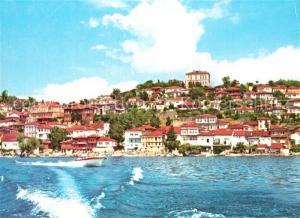 Ohrid Ansicht vom Meer aus Ohrid