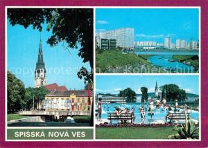 Spisska_Nova_Ves Platz Kirche Wohnsiedlung Freibad Spisska_Nova_Ves