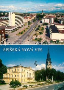 Spisska_Nova_Ves Panorama Stadtzentrum Kirche Spisska_Nova_Ves