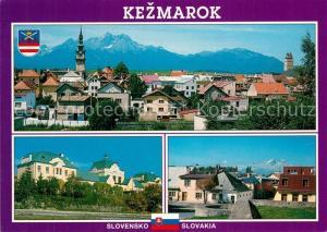 Kezmarok Panorama Zeleznicna Stanica Stara cast mesta Kezmarok