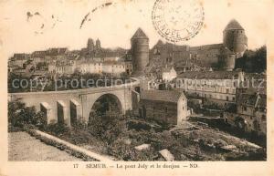 AK / Ansichtskarte Semur en Auxois Pont Joly et le donjon Semur en Auxois