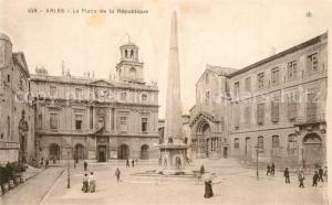 Arles_Bouches du Rhone Place de la Republique Obelisque Arles_Bouches du Rhone