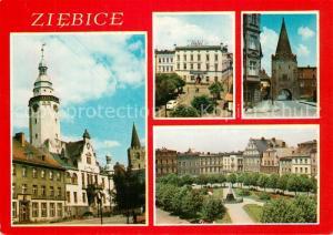 AK / Ansichtskarte Ziebice Ratusz Hotel Minjski Brama Paczkowska Plac 15 Grudnia Ziebice