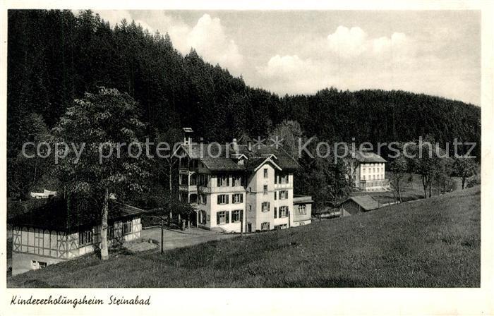 AK / Ansichtskarte Steinabad Kindererholungsheim Steinabad 0
