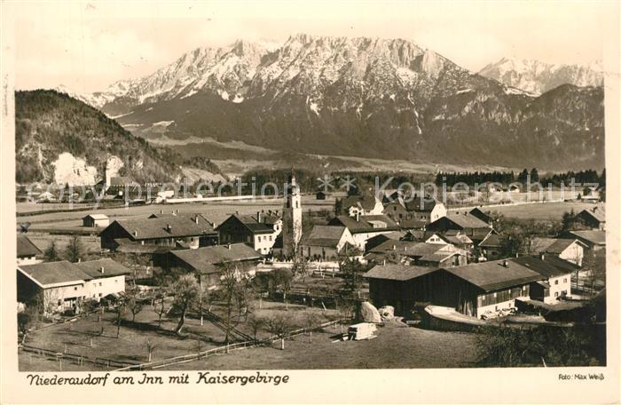 AK / Ansichtskarte Niederaudorf Panorama Kirche Kaisergebirge Niederaudorf 0
