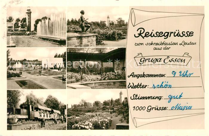 AK / Ansichtskarte Essen_Ruhr Gruga Wasserspiele Parkeisenbahn  Essen_Ruhr 0