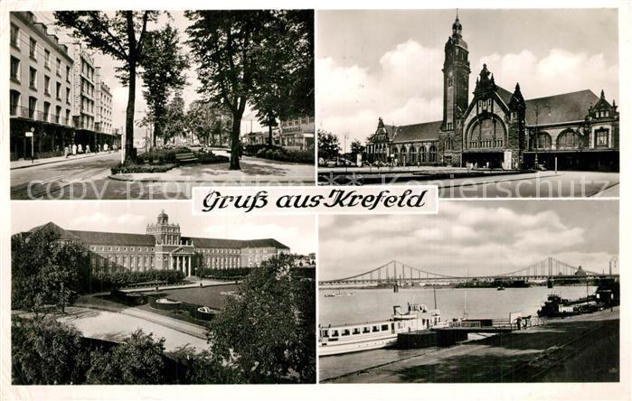 AK / Ansichtskarte Krefeld Hauptbahnhof Hafen Hauptpostamt Krefeld 0